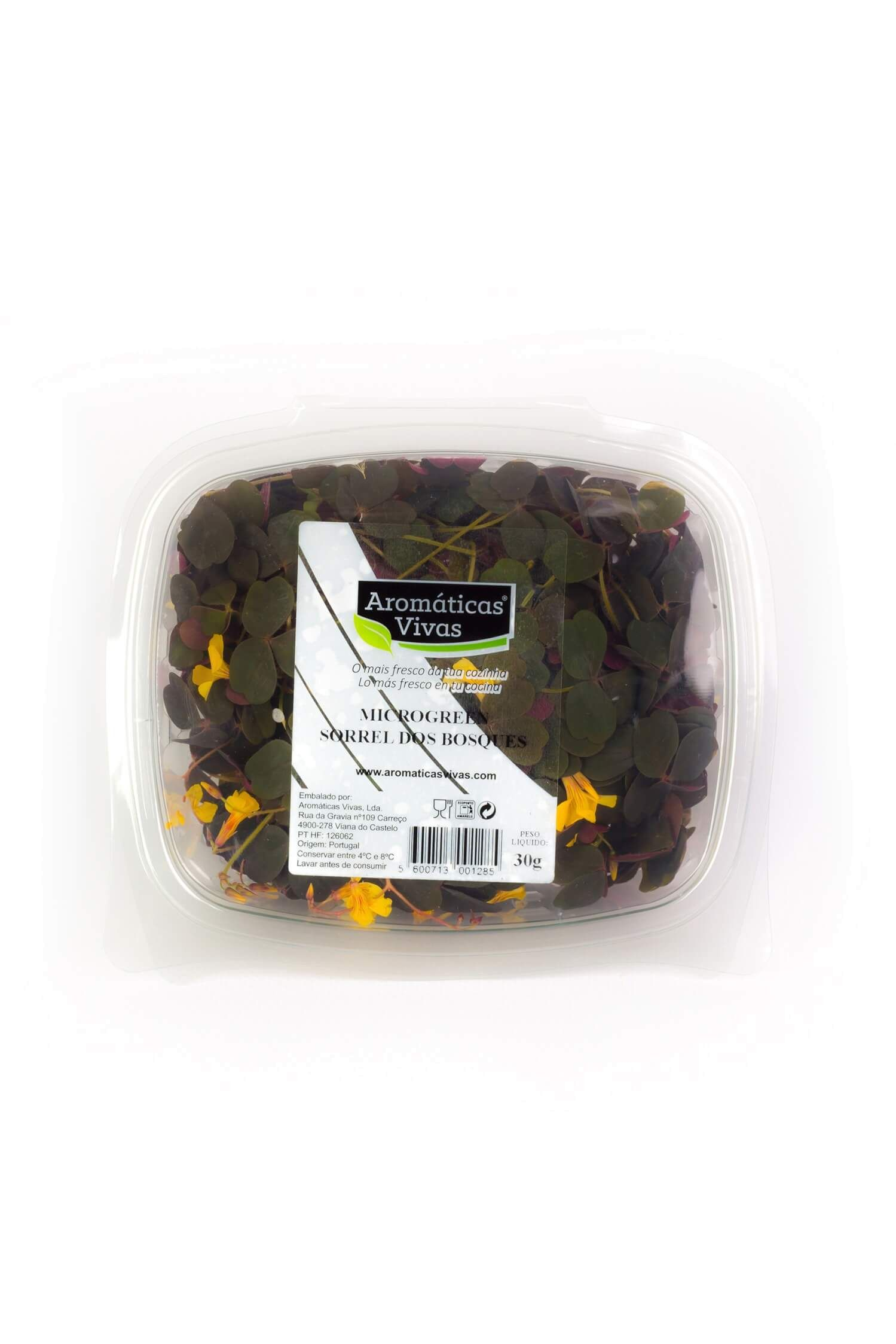 Microgreens Sorrel dos Bosques