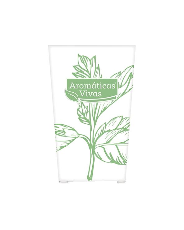 Vaso auto-rega para ervas aromáticas - hortelã